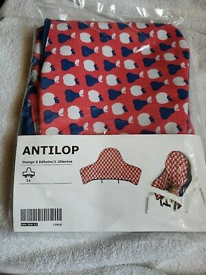 Ikea Antilop High Chair Cover Red Apples Kids One Size