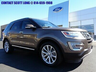 2016 Ford Explorer 2016 Explorer SUV Limited Sunroof Leather Nav 4WD 2016 Ford Explorer Limited 4WD Navigation Heated Leather Twin Moonroof Caribou