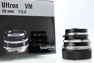 Woigtlander 35mm f2 Ultron VM in Mint Condition With Packaging