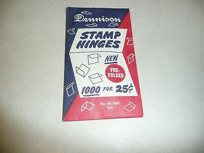 1 (One) Unopened Pack Of 1000 Dennison Pre-Folded Hinges The Best Stamp Hinges