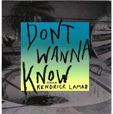Maroon 5 Ft Kendrick Lamar Promo Cd France I Dont Wanna Know  4 Tracks Remix