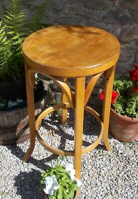 wooden stool,vintage french,mid century bentwood,plant stand,69 cm