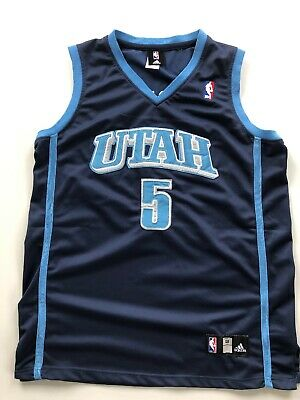 ADIDAS Authentic UTAH BOOZER Trikot 48 XL NBA Basketball Jordan