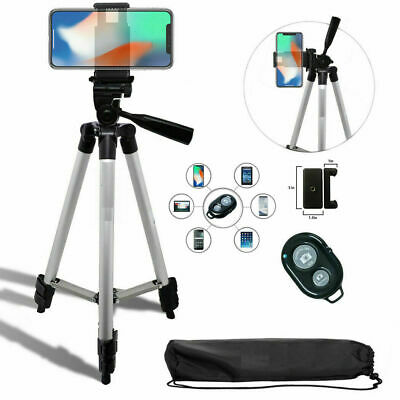 """50"""" TRIPOD KIT W/MOUNT and REMOTE for IPHONE 7 8 X 10 XS 11 SAMSUNG NOTE GALAXY"""