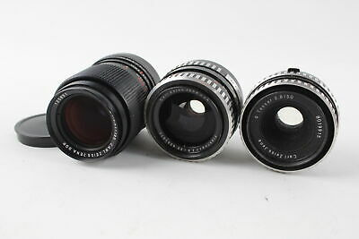 3 x Carl Zeiss Jena CAMERA LENSES Inc. 50mm F/2.8, 35mm F/2.8 & 135mm F/3.5