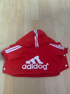 ADIDOG RED DOG HOODIE SWEATSHIRT - Size Small for Puppies and Small Dogs