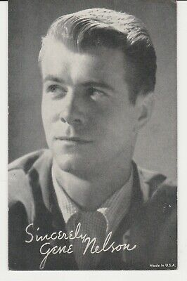 GENE NELSON Early Publicity Photo 1950s Arcade Card