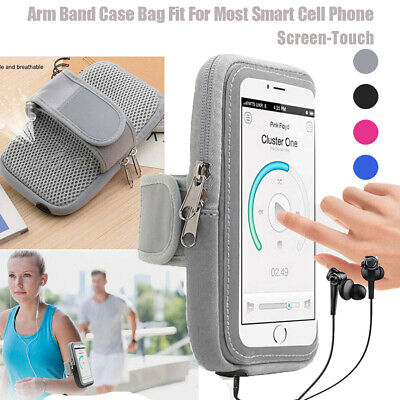 Screen Touch Armband Case Sports Gym Running Jogging Exercise Phone Holder Bag
