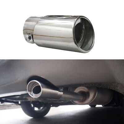 Auto Car Chrome Stainless Steel Rear Round Exhaust Pipe Tail Muffler Accessory S