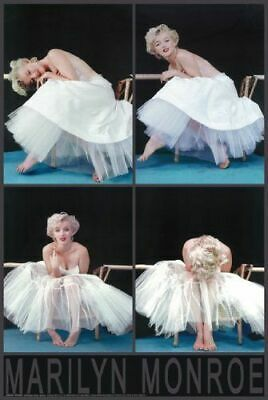 Marilyn Monroe Ballet Dress Photo Session Collage Poster 24 x 36