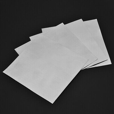 5pcs High Purity 99.9% Pure Zinc Sheet Plate for Science Lab 0.2mmx140mmx140mm