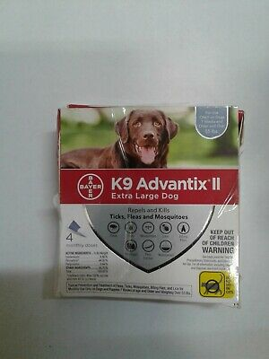 BrandNew Bayer K9 Advantix II for Extra Large Dogs Over 55lbs 4 Pack