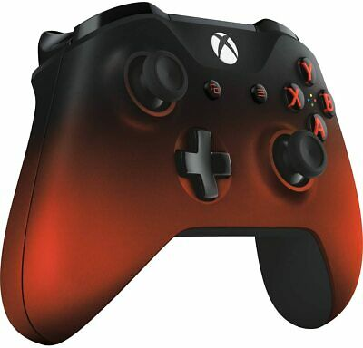 Official Microsoft XBOX ONE & ONE S Wireless Controller VOLCANO SHADOW Red Black