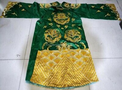 collection embroidery ancient China emperors formal dress dragon robe gown
