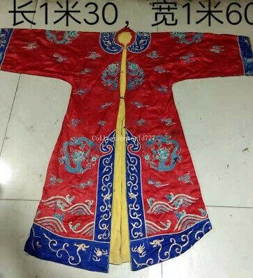 collection embroidery ancient China emperors formal dress dragon imperial robe