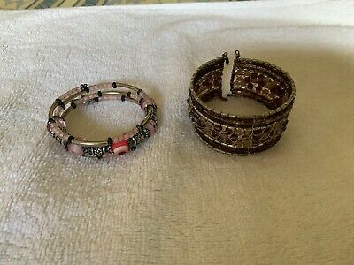 indian Style costume jewellery 2 X Bangle Bracelet