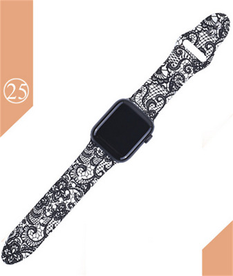 Silicone Printed Watch Strap fr Apple watch Series 5 4 3 2 1 40mm 44mm 38mm 42mm