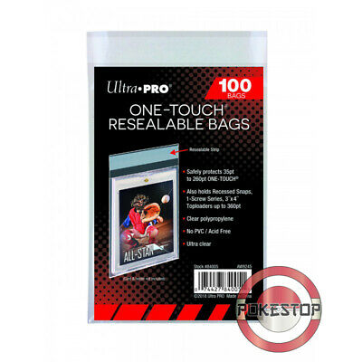 Ultra Pro - ONE-TOUCH Resealable Bags - Protection pour TopLoader