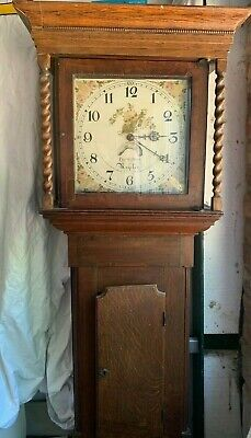 Antique longcase grandfather clock 18th Century Thomas Gilbert of Rugeley