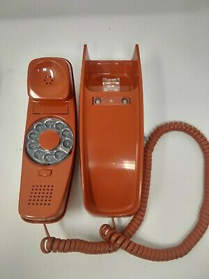 vintage Western Electric / Bell rust rotary Trimline wall phone in box