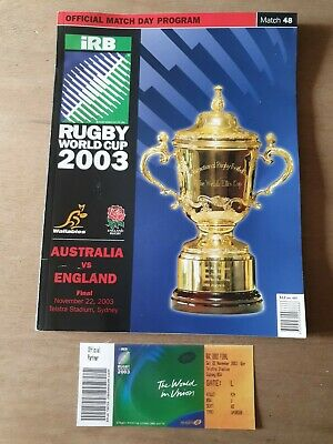 Rugby World Cup 2003 : Final Programme & Ticket