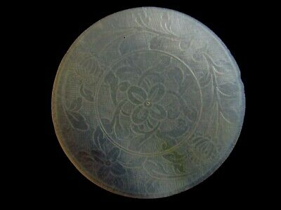 Chinese  Gambling Token - carved mother of pearl