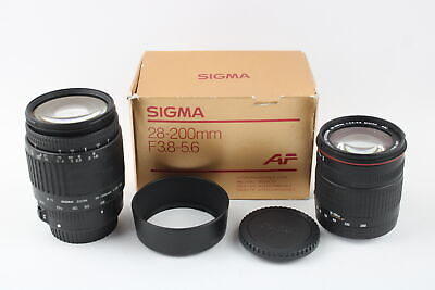 2 x Sigma AF 28-200mm CAMERA LENSES Inc Hyperzoom Macro & Boxed - Both Canon Fit