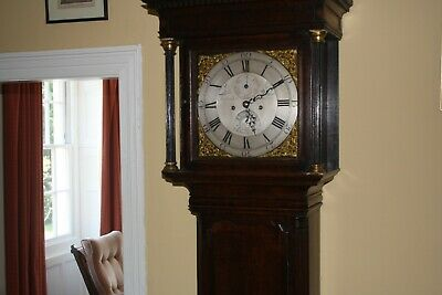 Antique 8 Day Grandfather Clock English Oak Cased Striking Longcase