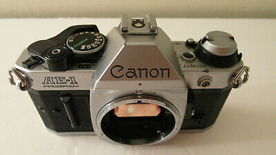 Clean Fully Tested Chrome Canon Ae-1 Ae1 Program 35Mm Film Student Camera Body