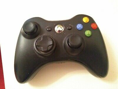 Genuine official Microsoft Xbox 360 Wireless Controller Gaming Pad. Black