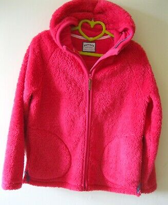 ❤️ Fat Face Girls 12-13 Yrs Fuchsia Pink Fleece Zipped Cardigan Hoodie Jacket  ❤