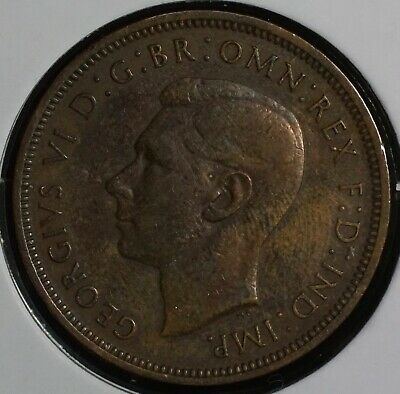 1937 Great Britain British Half Penny Coin