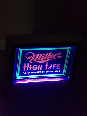Vintage 1951 Miller High Life Blacklight Sign