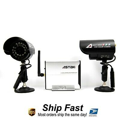 Wireless Infrared Weatherproof Cameras with Remote Control System
