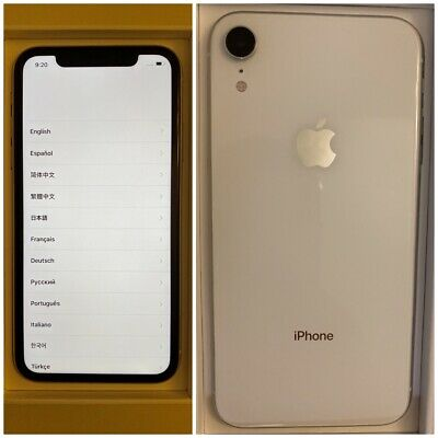 Apple iPhone XR - 64GB - White (T-Mobile - UNLOCKED) A1984 (CDMA + GSM)