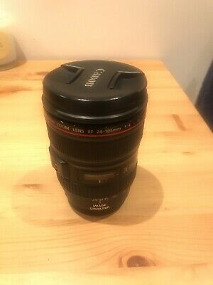 Canon EF 24-105mm f/4L IS USM Lens - Great Condition Sigma rear Cap No Hood