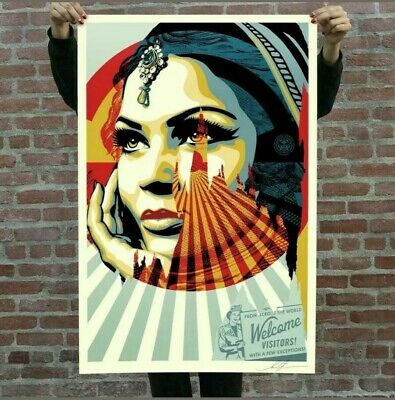 Shepard Fairey / Obey ♦ Target Exceptions ♦ Lithographie Signee