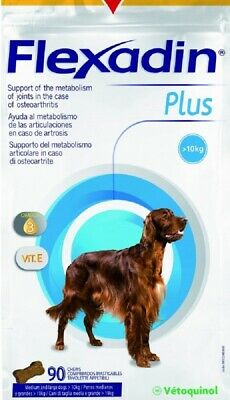 Flexadin Plus for Med & Large Dogs (90 Chews) **Half Price - Expiry date 07/20**