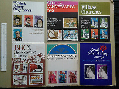 Post Office posters ~A4 size:  Space-filler quality: 1972  -   6 posters