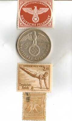 #-3)-1936-*german  Olympic and WWII stamps/coin.900%+1896-*greek Olympic stamp