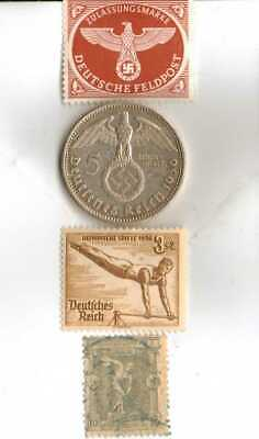 #-2)-1936-*german  Olympic and WWII stamps/coin.900%+1896-*greek Olympic stamp