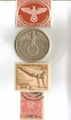 #-5)-1936-*german  Olympic and WWII stamps/coin.900%+1896-*greek Olympic stamp