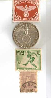 #-7)-1936-*german  Olympic and WWII stamps/coin.900%+1896-*greek Olympic stamp