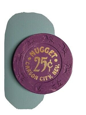 Fractional Chip 25¢ Gold Club Casino Sparks NV Poker Chip Gaming