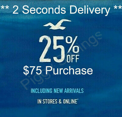 ✔️ 25% OFF $75 or more Hollister coupon code Promo Sale clearanc exp 9/30/20