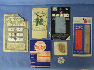 Vintage Sewing Needles-Merribee Instruction Booklet-Appliques & More - Lot of 7