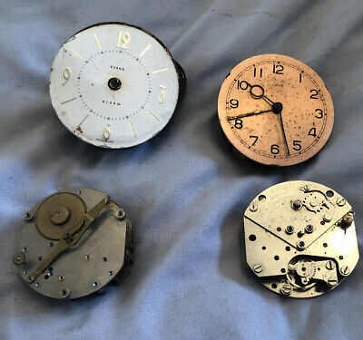 Vintage Clock Faces Dials And Spare Parts