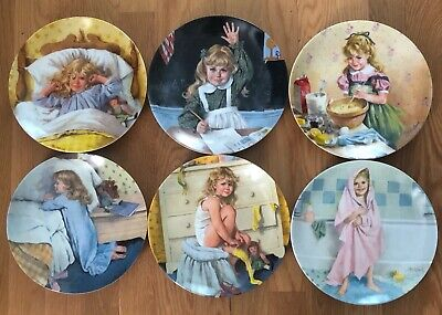 """(6) Becky's Day 8.5"""" Collector Plates by John McClelland ~ Recco ~ Knowles"""