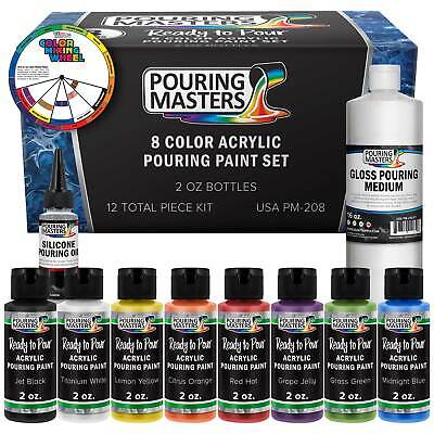 Pouring Masters 8 Color Acrylic Paint Pouring Set