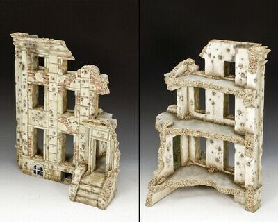 King & Country Diorama Sp071 Ww2 Ruined Building Mib